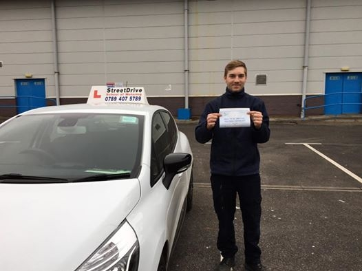 My instructor Louise was very caring and definitely supportive of me driving she is a very high standard teacher and the reason I had passed my test 1st Attempt <br /> <br /> <br /> <br /> The value is incredible the support and learning is amazing truly a deep down recommended company <br /> <br /> <br /> <br /> Many thanks to the StreetDrive company Kane - Passed Friday 10th February 2017