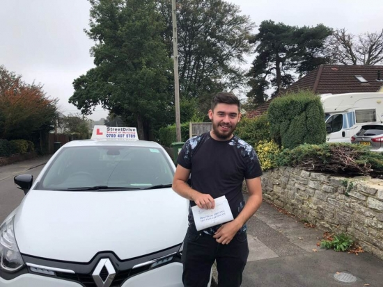 """Woohoo - move over """"Kane"""" is on the road, delighted for 'Kane Taylor' who passed his driving test at Poole DTC, """"1st Attempt"""", fantastic news.<br /> <br /> Well done from your instructor 'Louise"""" and ALL of us at StreetDrive (School of Motoring), may we wish you many years of safe driving - Passed Friday 5th October 2018."""