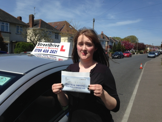 I had a brilliant experience with my very professional and helpful instructor I will certainly be recommending StreetDrive to all my friends<br /> <br /> <br /> <br /> I Past first time with Shaun and couldnacute;t have asked for anymore 1010 - Laura Morgan - 4 May 2016