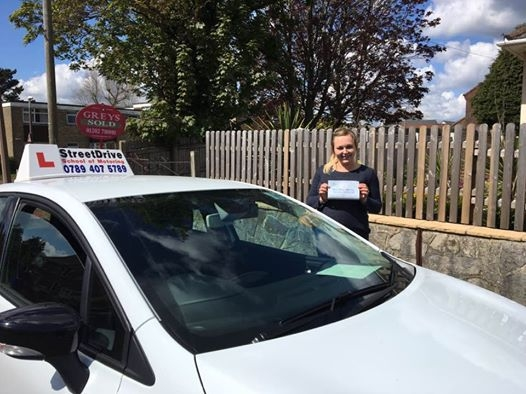 Delighted for Lauren Carroll who passed her driving test today at Poole DTC 1st Attempt such great news<br />