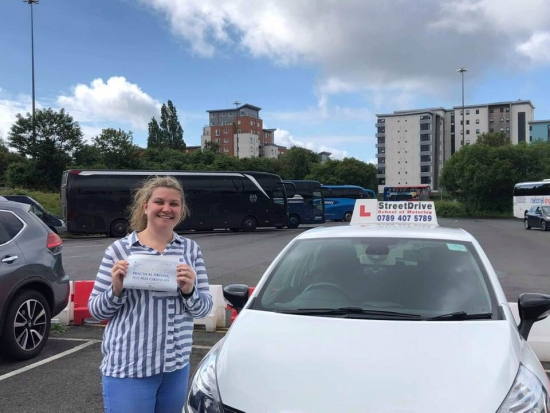 """Beep, beep, congratulations """"Lauren Somers"""" who passed her driving test """"1st attempt"""" at Poole DTC, just the """"THREE"""" driving faults, very well done.<br /> <br /> All the very best from your instructor """"Louise"""", good luck with the driving, keep safe 🚘 🚙 🚘 - Passed Friday 14th June 2019."""