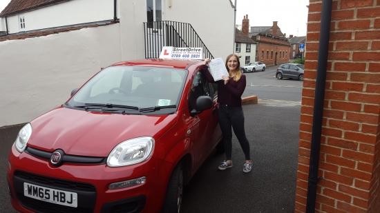 Well done to Leone Pooley who passed her driving test today at Chippenham DTC we are ALL delighted for you<br /> <br /> <br /> <br /> Congratulations from your instructor Bradley and ALL of us at StreetDrive School of Motoring may we wish you many years of safe driving - Passed Thursday 20th October 2016