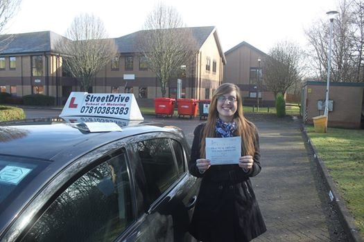 Well done to Lisa Marwood who passed her driving test 1st time today only SIX driving faults <br /> <br /> <br /> <br /> Well done from your instructor Phil and everyone at StreetDrive SoM - Passed Saturday 4th February 2017