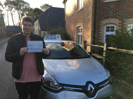 "Delighted for ""Marc Holland' who passed the new ""SatNav"" driving test today at Poole DTC, and at the ""1st Attempt"", fantastic news.<br />