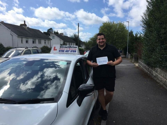Delighted for Matt Roles who passed his driving test today at Poole DTC just THREE driving faults fantastic news<br />