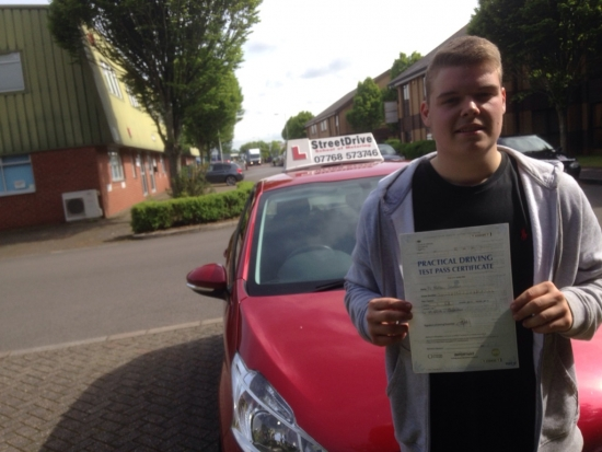 Congratulations to Matt Strudden who passed his driving test 1st Attempt today at Chippenham DTC very well done<br /> <br /> <br /> <br /> Congratulations from your instructor Colin and ALL of us at StreeDrive School of Motoring may we wish you many years of safe driving - Passed Thursday 26th May 2016