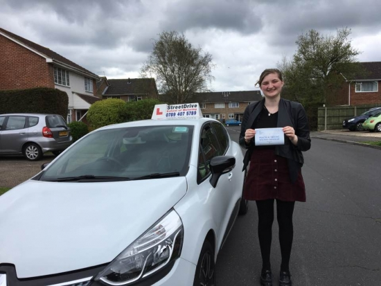 Delighted for Natasha Drane who passed her driving test yesterday at Poole DTC 1st Attempt - just THREE driving faults<br /> <br /> <br /> <br /> Well done from your instructor Louise and ALL of us at StreetDrive School of Motoring may we wish you many years of safe driving - Passed Friday 7th April 2017