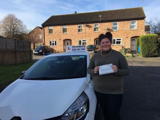 "Beep, beep, delighted for 'Nicole Rands' who passed her driving test today at Poole DTC, and at the ""1st Attempt"", fantastic news.<br />