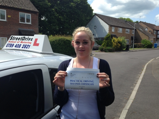 I passed my driving test with Shaun from StreetDrive I would highly recommend him to anybody wanting to learn to drive<br /> <br /> <br /> <br /> It was such a pleasant experience very warm and welcoming I felt very comfortable throughout all my driving lessons<br /> <br /> <br /> <br /> Shaun has now taught me my best friend and my boyfriend to drive a first class instructor thank you : - Passed Tuesday 24th May 2016