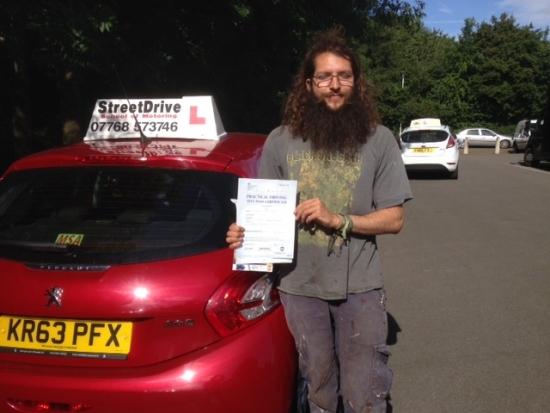 Congratulations to S Assan who passed his driving test 1st Attempt at Chippenham DTC very well done we are all delighted for you<br /> <br /> <br /> <br /> Congratulations from your instructor Colin and ALL of us at StreetDrive School of Motoring may we wish you many years of safe driving - Passed Wednesday 10th August 2016