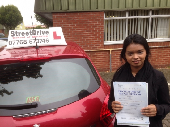 Congratulations to Siddaca Uddin who passed her driving test on 20th September at Chippeham DTC very well done we are all delighted for you<br />