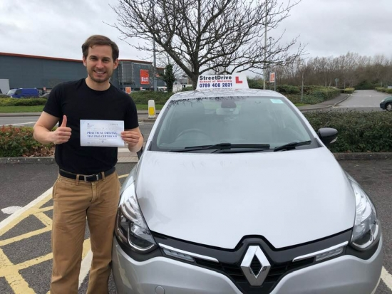 """Beep, beep, congratulations to 'Simon Hollosi"""" who passed his driving test today at 'Poole DTC', was his """"1st attempt"""" so fantastic news, very well done.<br /> <br /> Congratulations from your instructor 'Shaun' and ALL of us at StreetDrive (School of Motoring), may we wish you many years of safe driving - Passed Friday 15th March 2019."""