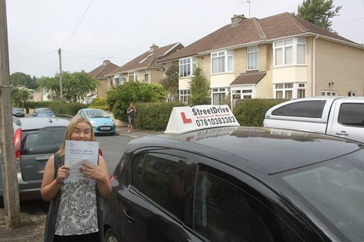 Congratulations to Sophie King who passed her driving test 2nd Attempt at Chippenham DTC very well done<br /> <br /> <br /> <br /> Congratulations from your instructor Philip and ALL of us at StreeDrive School of Motoring may we wish you many years of safe driving - Passed Tues 7th June 2016
