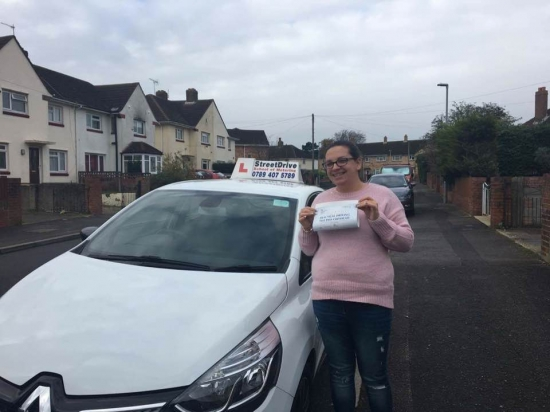Would highly recommend StreetDrive and my instructor 'Louise' to anyone who wants the absolute best instructor! <br /> <br /> <br /> <br /> Works at a pace that suits your individual needs and was reassuring when I was doubting myself. <br /> <br /> <br /> <br /> I passed in no time at all. Thank you so very much again Louise - Passed Friday 24th November 2017.