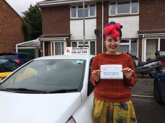 Congratulations to 'Suzy Wright' who passed her driving test today at Poole DTC, just SEVEN driving faults, fantastic news.<br />