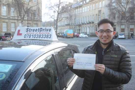 "Delighted for 'Thean Wei Ang' who passed the new ""SatNav"" driving test today at Chippenham DTC, and 1st Attempt, such fantastic news.<br />