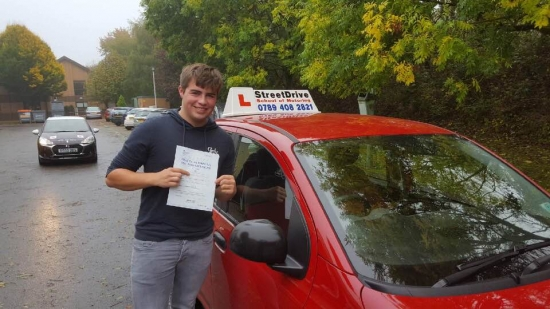 "Congratulations to ""Thomas Fitzgerald"" for passing his driving test at Chippenham DTC, fantastic result.<br />