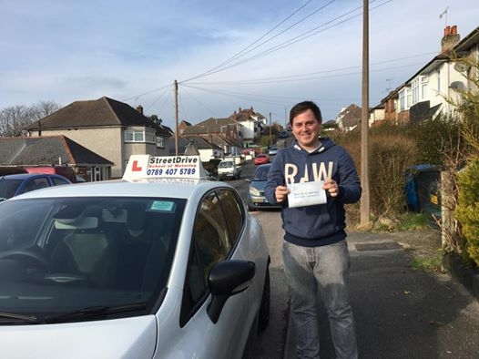 Congratulations to Tom Brookes who passed his driving test at Poole DTC on his 1st Attempt only THREE driving faults fantastic news<br />