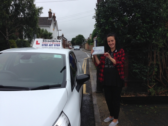 Professional service… I would recommend StreetDrive to anyone wishing to learn to drive <br /> <br /> <br /> <br /> Thank you Louise for your patience and help - Passed 2nd August 2016