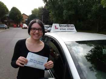 Congratulations to 'Charlotte Warr' who passed her driving test today at Chippenham DTC, and '1st attempt', just SIX driving faults, fantastic news.<br />