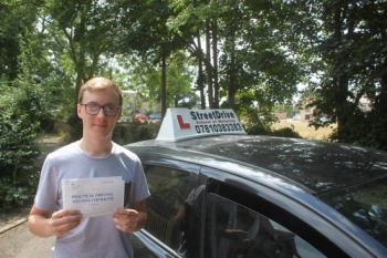 """Beep, beep, move over """"Daniel"""" is on the road, delighted for 'Daniel Plummer' who passed his driving test this morning at Chippenham DTC, on his """"1st Attempt"""", just """"SIX"""" driving faults, fantastic news.<br /> <br /> Well done from your instructor 'Philip"""" and ALL of us at StreetDrive (School of Motoring), may we wish you many years of safe driving - Passed Wednesday 11th July 2018."""