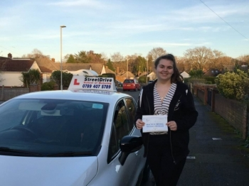 "Delighted for ""Ellie Taylor' who passed the new ""SatNav"" driving test today at Poole DTC, it was her ""1st Attempt"", fantastic news.<br />