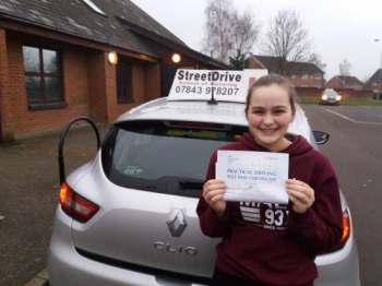 "Congratulations to ""India Westoff' who passed the new ""SatNav"" driving test today at Trowbridge DTC, it was her ""1st Attempt"", only ""ONE"" driving faults, fantastic news.<br />