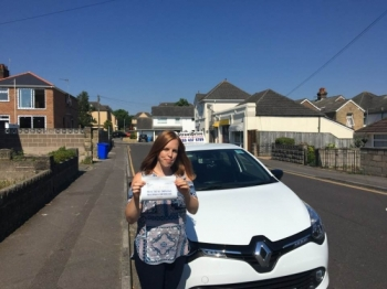 """Delighted for 'Kerry Leaver"""" who passed her driving test today at Poole DTC, 1st Attempt and just """"7"""" driving faults"""", fantastic news.<br /> <br /> Well done from your instructor 'Louise' and ALL of us at StreetDrive (School of Motoring), may we wish you many years of safe driving - Passed Friday 29th June 2018."""