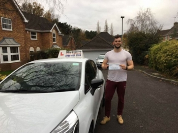 "Delighted for 'Matt Foreman' who passed his driving test today at Poole DTC, and at the ""1st Attempt"" just 'FIVE' driving faults, fantastic news.<br />