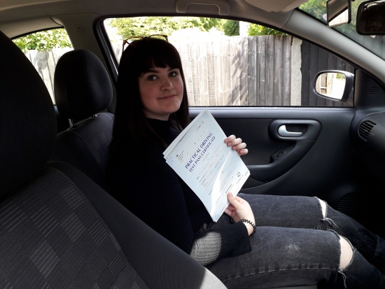 Congratulations to Becca Edwards for passing her driving test 1st time with only a few minors.
