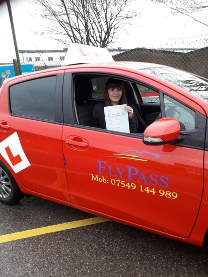 Congratulations to Zoe Baker for passing her test 1st time this morning with only 4 minors. You and Alice have been amazing to teach and thank you for both being lovely pupils. See you on the road!
