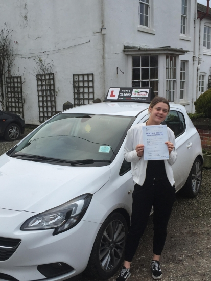 Very happy for Charlotte to pass her test at Chester after all of the hard work.
