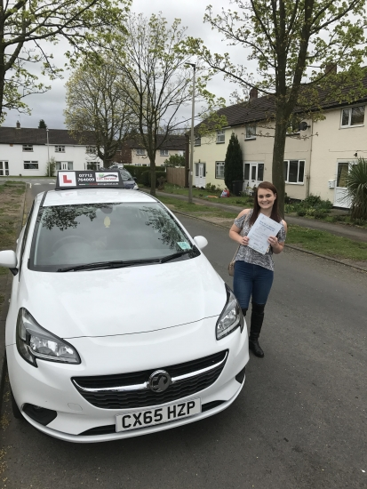 Brilliant driving by Jess only 2 minors, first time pass!!