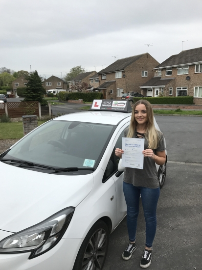 Very good drive from Ciara with 3 minors, 2nd time pass.