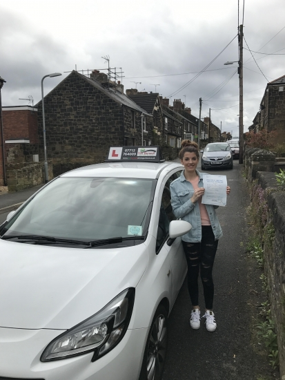 Very happy for Maria, passing at Wrexham, enjoy the open roads!