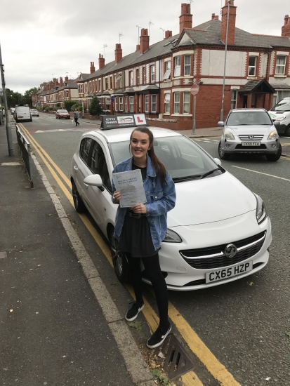 Dara who passed 2nd time at Chester with just 4 minor faults, congratulations!