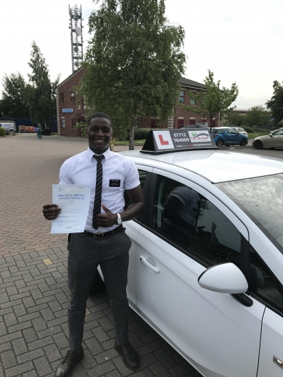 Really please for MJ passing first time at Chester with 4 minor faults!
