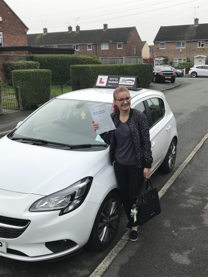 Really happy for Estera passing 2nd time at Chester with just 5 minor faults.
