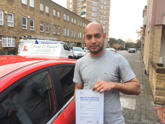 Hi Just to say i have passed my driving test with Gulzar today <br />