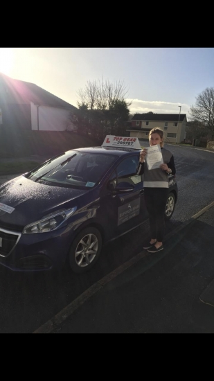 Another one joins the first time club with only 3 minors! Great Drive Maisie. 🎉🎉🎉🎉🎉