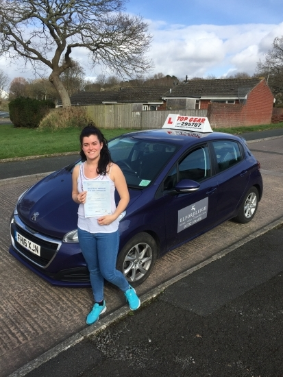 Well Done Liz Rowe on passing your driving test in Plymouth Stay safe 🚗💭