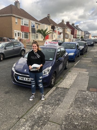 Congratulations Tegan on passing your test 1st time with only 4 driving faults!