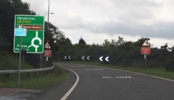 Exit A23 Towards Test Centre