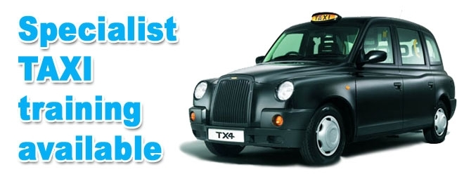 Specialist taxi driver training in and around Horsham