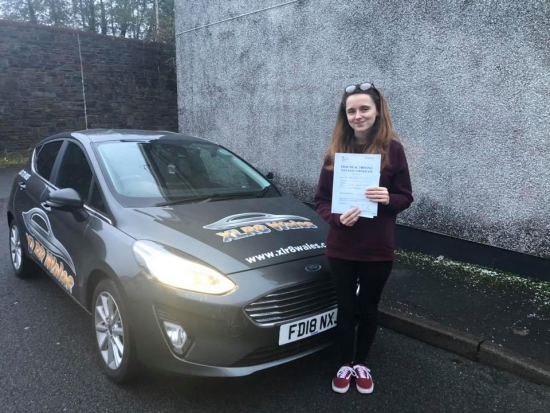 25.11.19 - Congratulations to Abbi Jenkins on passing her test first time in Merthyr Tydfil this afternoon with only 3 faults nice one 😊