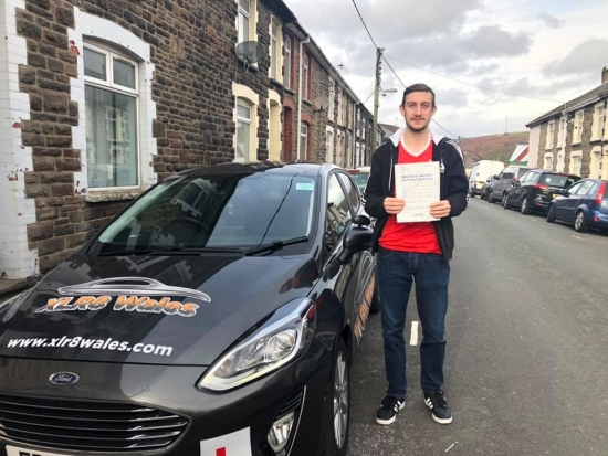 20.11.19 - Congratulations to Adam Neads on passing his test this morning in Merthyr Tydfil with zer