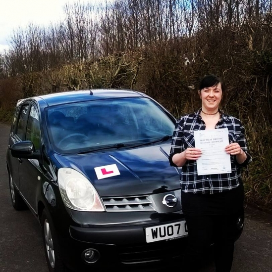 732016 - Well done Adana on passing your automatic driving test today in Abergavenny with just ONE minor Fantastic result especially with all those nerves