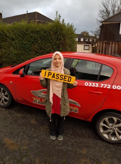 27.11-19 - Congratulations to Aishah Ishak on passing her automatic driving test today with our Rhys first time in Abergavenny with 0 minors!!! Well d
