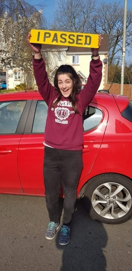 2.4.19 - Congratulations to Amy Hackman on passing her automatic driving test first time in Merthyr with our Rhys!!! Well done and safe driving �🚗