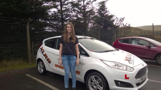 81014 - Big congratulations to Annaliegh Williams on passing her driving test this morning in Merthyr Tydfil Good luck with the new job :-